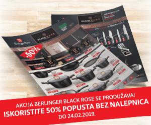 Black rose BerlingerHaus posuđe