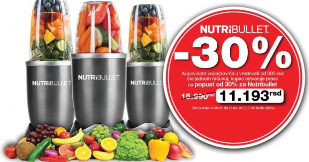 ProduOstvarite -30% na kupovinu Nutribulleta