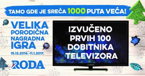 Izvukli smo prvih 100 dobitnika televizora Alpha LED