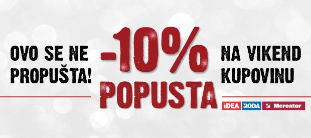 10% popusta na kupovinu