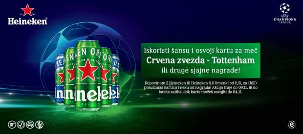 Kupi pet Heineken limenki i osvoji karte  za ligu šampiona