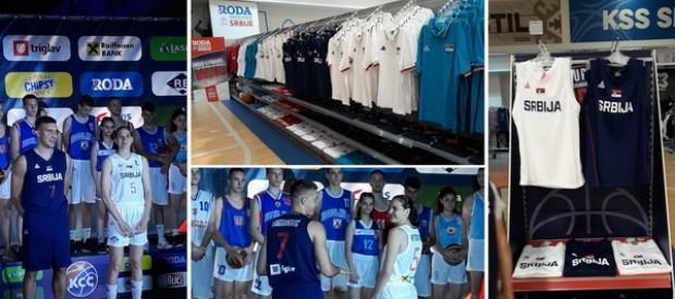 Novi dresovi košarkaške reprezentacije u Rodama širom Srbije