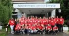Zaposleni u volonterskoj akciji za gerontološki dom