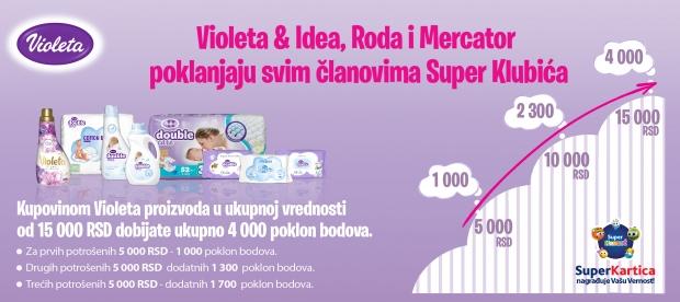 Kupi Violeta proizvode i zaradi!