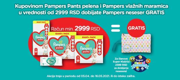 Zašto roditelji biraju Pampers u IDEA Super, Roda i Mercator prodavnicama?