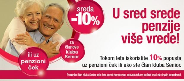 Tokom leta, 10 posto popusta sredom za sve penzionere