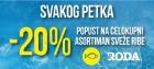Svakog petka 20% popusta na asortiman sveže ribe