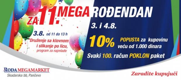 Obeležavamo 11. rođendan Roda Megamerketa u Pančevu