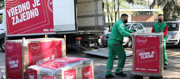 Donacija od četiri miliona dinara za Kovid bolnice i kasarne