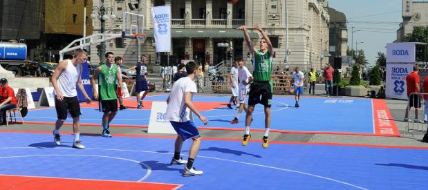 Veliko finale RODA 3x3 prvenstva Srbije u centru Beograda