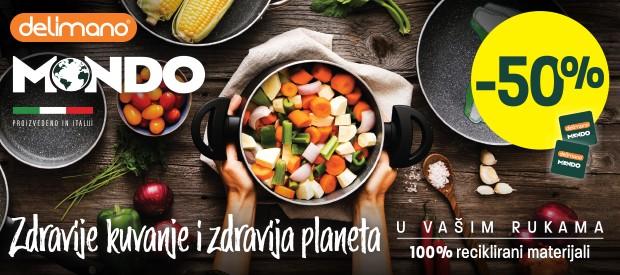 DELIMANO MONDO LINIJA POSUĐA – zdravije kuvanje i zdravija planeta!