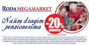 Veliki popusti za penzionere u RODA Megamarketima