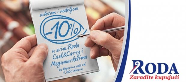 10% popusta u Roda Megamarketima i Cash&Carry!