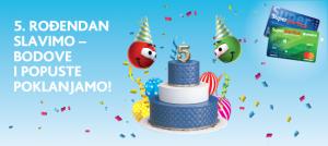 Super kartica 5. rođendan slavi – bodove i popuste poklanja!