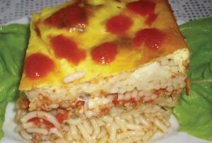 Zapečene špagete sa mlevenim mesom