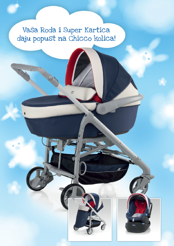 Chicco kolica set 3 u 1 Trio Love
